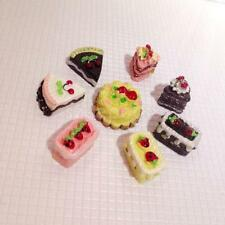 Lot of 8pc Dollhouse Miniature Food Chocolate Cakes for Blythe Barbie doll party
