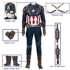 Avengers mossa finale CAPITAN AMERICA Cosplay Guanti Cintura Scarpa copre CASCO Cablaggio