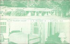 Clanton AL Ellis Tourist Court Postcard