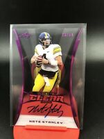 2020 Leaf Trinity Nate Stanley Purple Clear On Card Auto SSP To /50 RC Vikings