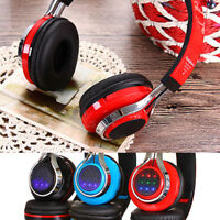 Kids Wireless Bluetooth Ear Headphones Girls Foldable LED Earphones Headset AS