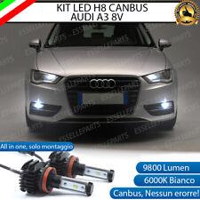 KIT LED H8 6000K CANBUS XENON 9800 LM LUMEN FENDINEBBIA PER AUDI A3 8V