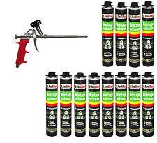 Pistolenschaum 12 x 750 ml + 1  Metall Schaumpistole Bauschaum Qualität