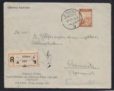 TURKEY 1932 REGISTERED (ADANA) MAILED COVER TO GERMANY WRITTEN IN ESPERANTO LANG