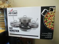 New! All-Clad HA1 Non Stick 7-Piece Ant Warp Dishwasher Safe Cookware  (1997)