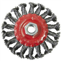 "100mm 4"" TWIST KNOT WIRE WHEEL BRUSH FOR ANGLE GRINDER"
