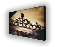 Liverpool - Shankly Gates Golden Sky Wall Canvas Print Picture Wall Art  63x40cm
