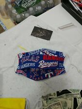 TEXAS RANGERS Cotton Face Mask ALL SIZES