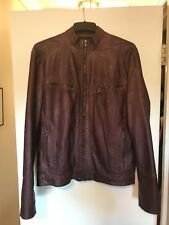 Mens Kenneth Cole Faux Leather Jacket! Size Large!