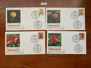 Flowers/Plants Various Countries 1981-1982 Various Covers + Stamps (763)