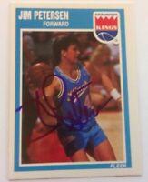 Jim Petersen Hand Signed 1989 Fleer Card Sacramento Kings