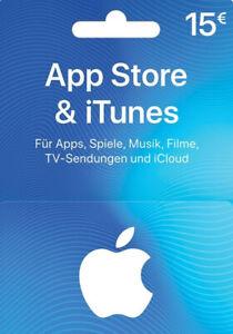 iTunes Guthaben 15 EUR Prepaid Code 15€ - Apple Store Deutschland Digitel Key DE