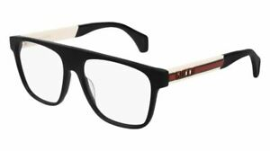 GUCCI GG0465O 001 Black Square Rectangle Men's 55 mm Eyeglasses