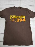 San Diego Pale Ale 394 AleSmith Mens Medium T-Shirt Brown Padres I38