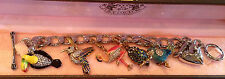 JUICY COUTURE BIRD LOVER THEME CHARM BRACELET NEW!!