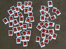 je 25 Dauermarken M 2472 und M 2477, Klatschmohn, Mohn, Blumen, teilw abgelöst