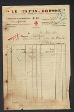 """CHARENTON (94) USINE de TISSUS VEGETAUX """"LE TAPIS-BROSSE / LE LYS"""" en 1936"""