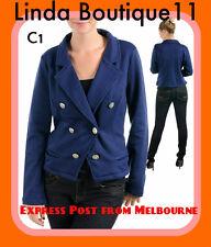 C1 Ladies Blue Size 16/18 Suit Warm Blazer Jackets Office Work Outerwear Plus