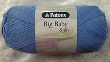 Patons Big Baby 8 Ply #2554 Sky Acrylic 100g