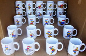 Rare COLLECTION SET of 25 NEW 1984 Los Angeles OLYMPICS MUGS BY PAPEL 1980 LAOOC