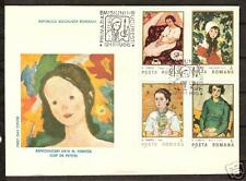 ROMANIA #3353-6 Famous Art First Day Cover Set of Four