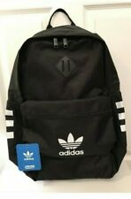 582f813856ee Adidas Base Backpack Black White Originals Style Three Stripes NEW