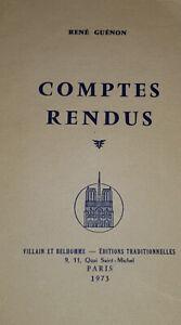Comptes rendus par René Guénon