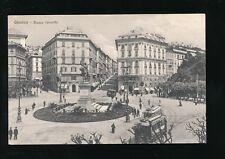 Italy GENOVA Genoa Piazza Corvetto Trams c1900/10s? PPC