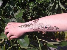4 x Bijoux inspirer éclair tatouages temporaires festival art corporel au henné