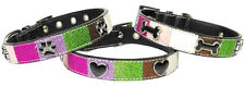 NEW Mirage Pet Products Multicolor Collar with Hearts, Dog Bones, or Pawprints