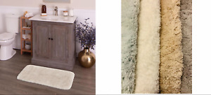 Style Selections Anti microbial 20-in x 30-in Polyester Bath Rug