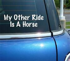 My Other Ride Is A Horse Country Decal Sticker Art Car Wall Decor