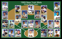 1969 NEW YORK METS Custom Baseball Card POSTER Unique Team Photo Art Decor NY 69
