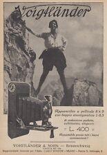 Z5326 Apparecchio fotografico VOIGTLANDER - Pubblicità d'epoca - 1925 vintage ad