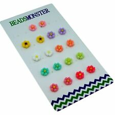 Magnetic Clip On Earrings, Daisy Flower Gift for Teen Girls Womens Kids Friend