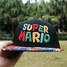 Super Mario Logo embroidery Baseball Cap Mens Hip Hop Adjustable Hat Snapback