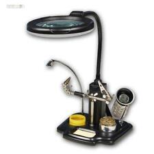 Dritte helfende Hand mit Lupe Löt-und Montagehilfe Löthalter Lötlupe m LED-Lampe