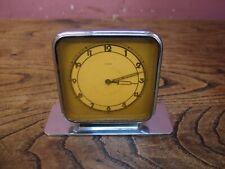 VINTAGE 1930's CHROMED METAL CASED ART DECO DESIGN MECHANICAL DESK CLOCK PROJECT