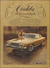 1975 Vintage ad Chrysler Cordoba Photo Gold Retro Car (071116)