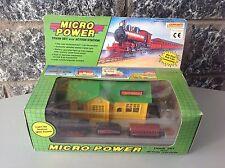 1989#NRFB SOMA  MICRO POWER train set with action station NIB  battery operated