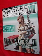 FINAL FANTASY Xlll WORLD PREVIEW BOOK 160 PAGES JAPANESE LANGUAGE / UK DSP