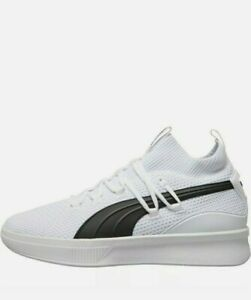 Puma Mens Clyde Court Basketball Shoes Trainers Size uk 9.5 White new in box