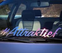 Attraktief Aufkleber Frontscheibe Auto Tuningsticker deep low bagged stance 274