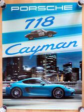 """orginal Porsche Plakat Poster  """"Porsche 718 Cayman """"  schneller Mittelmotor"""
