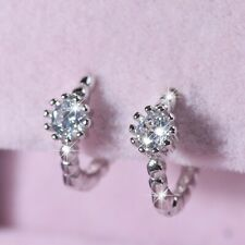 solid 925 silver simulated diamond stud baby kids huggies fine earrings small