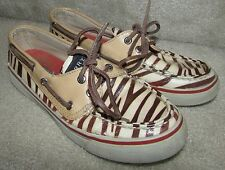 Sperry Top-Sider Animal Print 2 Eye Boat Shoes 94456446 Womens Size 5.5M
