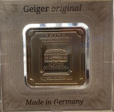 10 gram Geiger bar .999 fine Silver