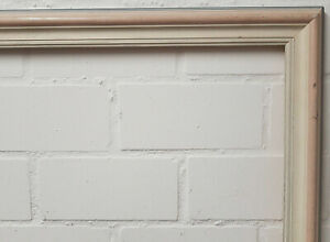Holzrahmen cremeweiß rosa ca. 104,3x104,6 cm Falzmaß