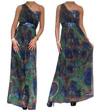 Ladies Long Chiffon Dress Cocktail Maxi Evening Party Size 8 10 12