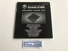 Notice - Memory Card 251 - Nintendo Gamecube - PAL EUR